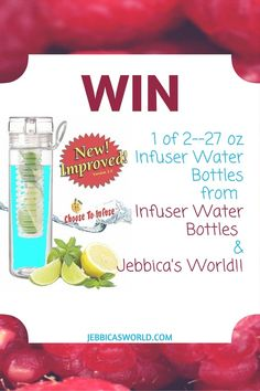 Infuser Water Bottles 27oz Infuser Bottle Review and Giveaway