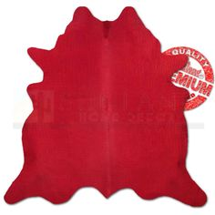 Hand Picked - Alligator Texture Premium Cowhide - Dyed Red - Large