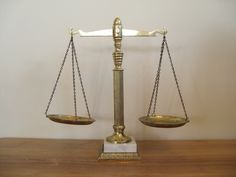 Vintage lawyers scales, scales of justice in brass, metal and marble. $20.00, via Etsy.