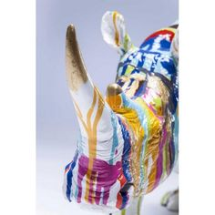 Статуэтка Носорога Deco Figurine Rhino Blue 37012 KARE 2015 - декор Kare снятый с производства - Магазин TheXATA. Украина! - интересная мебель, аксессуары, яркий декор, ковры и шкуры зверей!