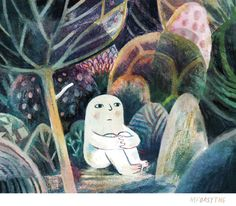 Seated is an archival quality giclée print of an original work in pencil, gouache, ink, and watercolour by Matt Forsythe . Art And Illustration, Illustration Mignonne, Art Inspo, Kunst Inspo, Oeuvre D'art, Pretty Pictures, Gouache, Art Reference, Character Design