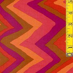 Bright Zig Zag Fabric