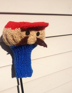 Mario hand knit Golf Club Cover from Mellyjoco.etsy.com! This would make a great guy gift!