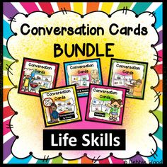 Conversation Cards BUNDLE:  Life Skills  These are great for getting ESL students to start speaking.