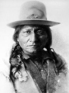 Sitting Bull (Tatanka-Iyotanka), Lakota (Sioux) Chief - Native American by Groschi Native American Beauty, Native American Photos, Native American Tribes, Native American History, American Indians, Navajo, Gravure Photo, Sitting Bull, The Lone Ranger