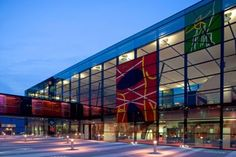 Blizard Building exterior facade by night Photo courtesy Alsop Design Ltd.