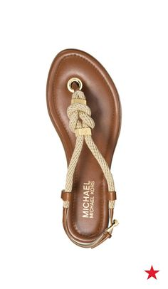 Going a cruise? From ship to shore, the rope detail on these leather Michael Michael Kors sandals offer a fun nautical vibe.