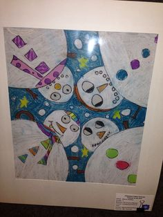 Perspective snowmen Crafts For Kids, Arts And Crafts, Perspective Art, Winter Art, Grade 2, Klimt, Art Classroom, Elementary Art, Teaching Art