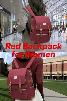 Ronyes Laptop Backpack for Men and Women College Bag Bookbag with USB Charging Port Casual Rucksack School Backpack Daypacks Fits up to Laptop Red Backpack, Laptop Backpack, Cute Backpacks For Women, College Bags, School Backpacks, Messenger Bag, Satchel, Casual, School Bags