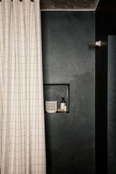 Industrial Showers, Traditional Baskets, Long Bath, Turbulence Deco, Original Design, Tadelakt, Burke Decor, Curtain Fabric, Earthy