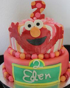 Elmo cake love how girlie it is