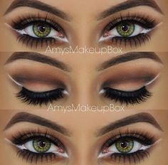 Love the white liner idea, makes the eyes pop!