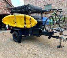 Camping Trailer Diy, Kayak Trailer, Off Road Camper Trailer, Jeep Camping, Truck Camper, Camper Trailers, Campers, Expedition Trailer, Overland Trailer