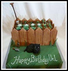 Scottie Dog and Garden cake