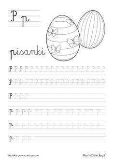 P pisane - nauka pisania dla dzieci,  Anna Kubczak Worksheets For Kids, Homeschool, Letters, Teaching, Activities, Education, Math, Anna, Alphabet