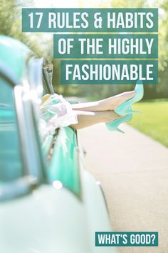 Rules & Habits of Highly Fashionable People
