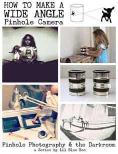 Pinhole Photography: Making A Wide Angle Pinhole Camera via lilblueboo.com #photography #darkroom #pinhole #pinholecamera