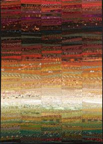 I love the simple flow of colors and the promise of light in my quilt--autumn hills. Logic Art, Autumn Hill, Western Quilts, Traditional Quilt Patterns, Landscape Quilts, Soft Blankets, Small Quilts, Textile Artists, Mosaic
