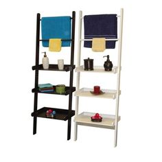 RiverRidge Ladder Shelf with Towel Bars | Overstock.com Shopping - The Best Deals on Bathroom Shelving