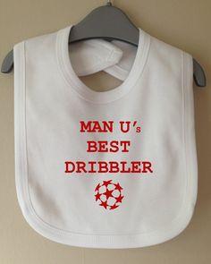 man u's best dribbler bib manchester united by TwinkleJellyDesigns, £3.99