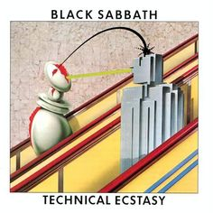 "Sep 1976 – 39 years ago today, Black Sabbath released their album, ""Technical Ecstacy. Hard Rock, Black Sabbath Albums, Promotional Stickers, Holy Diver, Used Vinyl Records, Muay Thai Kicks, Music"
