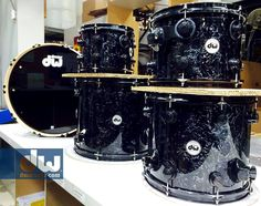 DW Drums with black velvet finish! Yes please!