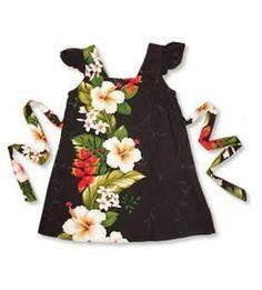 b759c439583bc Paradise Black Hawaiian Girl Rayon Dress. Girls Hawaiian DressHawaiian  OutfitsHawaiian ...