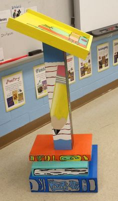 I love this for writers workshop.  She makes a great stool too.