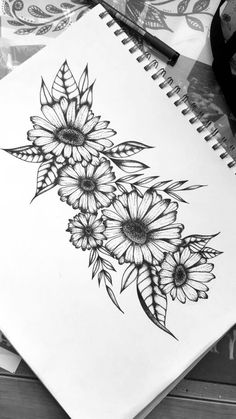 Daisys - # - Daisys – # You are in the right place about Daisys – # Tattoo Design And Style Galleries On T - Tattoo Drawings, Body Art Tattoos, Small Tattoos, Finger Tattoos, Tatoos, Sunflower Tattoo Sleeve, Sunflower Tattoos, Butterfly Sleeve Tattoo, Bild Tattoos