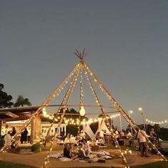 Naked tipi - magical celebrations under the stars. Wedding venue inspiration