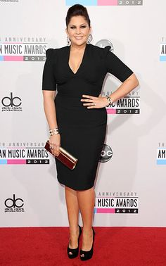 Lady A's Hillary Scott at the 2012 American Music Awards - Lady Antebellum won the Country Band, Duo or Group Award