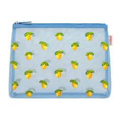 Little Lemons Embroidered Mesh Pouch