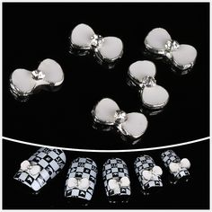 wholesale 100pcs White bowknot 3D Alloy Nail Art / DIY Nail decoration ** To view further for this item, visit the image link.