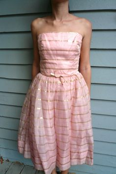 pink and gold vintage