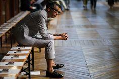 Streetsnaps: Suit Up  Location: Adam Kimmel 2012 Spring/Summer Collection Presentation, Paris