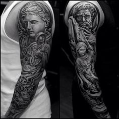 Old roman sleeve tattoo art.. Click on the pic for more #tattoos Everyone who…