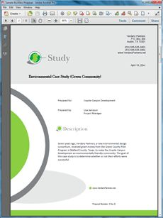 The Case Study Sample Is One Of Many Sample Business Proposals Included  With Proposal Pack Proposal Templates And Proposal Software Products.  Proposal Cover Page Design