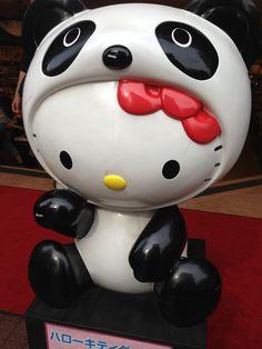 Hello Kitty disguised as Panda in Chinatown, Yokohama, Japan