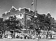 Old Albuquerque High School Central/Broadway NE; 1914, 1927, 1938-40; George Williamson, Louis Hesselden