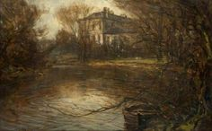 Killermont House by John Lawson (British, 1868–1909) Oil on canvas, 30.8 x 45.8 cm.Glasgow Museums.