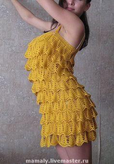 Dress crochet ruffles viscose cotton dress a holiday. Crochet Ruffle, Vanessa Montoro, Crochet Clothes, Crochet Ideas, Cotton Dresses, Ruffles, Elsa, Hobbies, Trending Outfits
