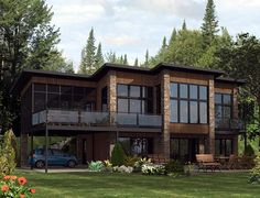 Elevation of Contemporary Modern House Plan 50324