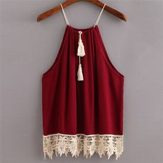Hot Sale Sexy Lace Women Tops Red Sleeveless Casual Style American Apparel T Shirt Women Tank Tops Camisetas Mujer-in Camis from Women's Clothing & Accessories on Aliexpress.com | Alibaba Group