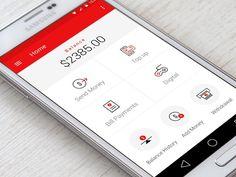@MaterialUp : Wallet App   User interface by Kinjan Makwana…