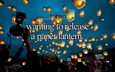 I really do, it would be so fun! The best thing like this I've done is released balloons at the river on my late friend's bday this summer <3 constantly thinking of her and missing her, praying for her and her family.