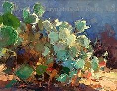Study in Green, Prickly Pear by Kathryn Stats