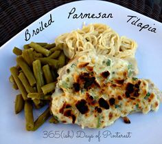 Broiled parmesan tilapia is the BEST way to make fish! So tender and flavorful.
