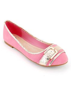 Take a look at this Pink Jaycee-03 Flat by Cape Robbin Collection on #zulily today!