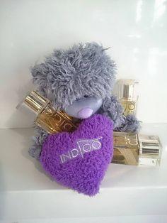 Indigo Teddy Bear ! <3<3<3  Love it! Double Tap if you like #mani #nailart #nails #teddybear Find more Inspiration at www.indigo-nails.com