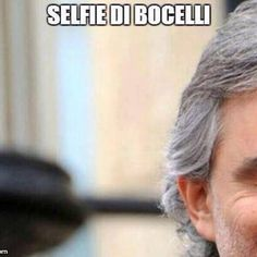 selfie di bocelli